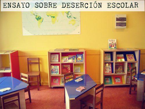 Ensayo sobre deserción escolar